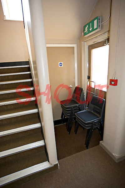 Fire Exit being blocked by Chairs..©shoutpictures.com..john@shoutpictures.com.