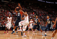 Ohio State Buckeyes guard Lenzelle Smith Jr. (32) goes up against Penn State Nittany Lions guard D.J. Newbill (2) at Value City Arena in Columbus Jan. 29, 2013 (Dispatch photo by Eric Albrecht)