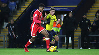 Chuks Aneke of MK Dons in possession as Oxford United's Ryan Ledson looks on during Oxford United vs MK Dons, Sky Bet EFL League 1 Football at the Kassam Stadium on 1st January 2018