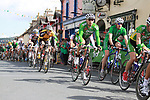 The peloton pass through Rathdrum Co.Wicklow during Stage1 of the 2009 Tour of Ireland, running 196km from the Ritz-Carlton Hotel Powerscourt, Enniskerry to Waterford, Ireland. 21st August 2009.<br /> (Photo by Eoin Clarke/NEWSFILE)