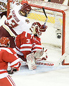 Cam Atkinson (BC - 13) ties the game at 1 midway through the first period. - The Boston College Eagles defeated the visiting Boston University Terriers 5-2 on Saturday, December 4, 2010, at Conte Forum in Chestnut Hill, Massachusetts.