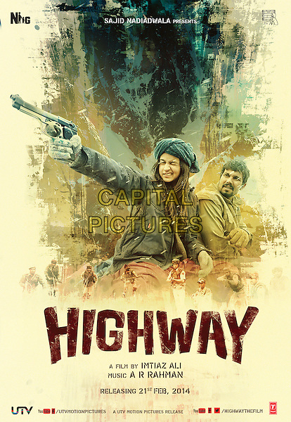 POSTER ART<br /> in Highway (2014) <br /> *Filmstill - Editorial Use Only*<br /> CAP/NFS<br /> Image supplied by Capital Pictures