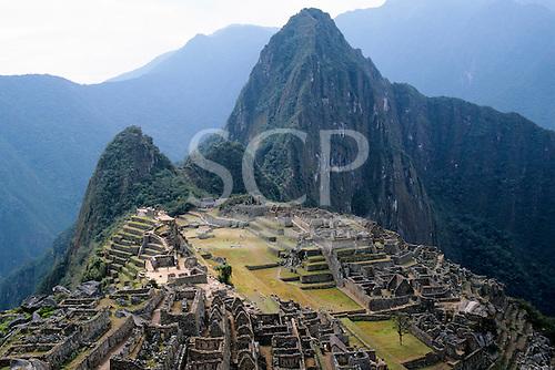 Machu Picchu, Peru. Overview of the Inca ruins; Urubamba/Vilcanota river watershed.