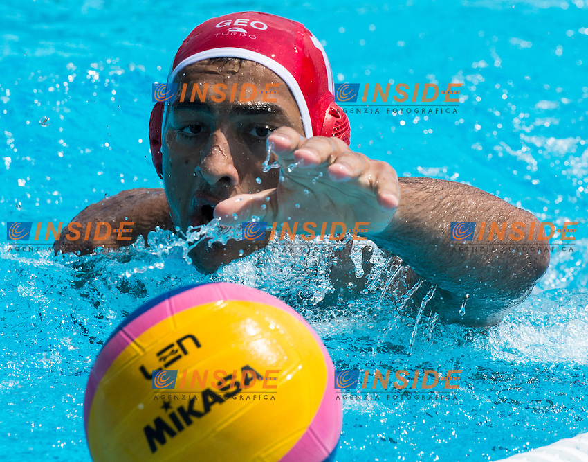 13 KAPANADZE Beka (GK) GEO<br /> ITA(white) vs GEO(blue) Men<br /> LEN European Water Polo Championships 2014 - July 14-27<br /> Alfred Hajos -Tamas Szechy Swimming Complex<br /> Margitsziget - Margaret Island<br /> Day04 - July 17 <br /> Photo G. Scala/Inside/