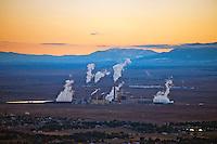 Comanche power plant at dusk, Pueblo, Colorado. Oct 2013