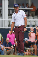 Lanto Griffin (USA) looks over his putt on 18 during round 4 of the 2019 Houston Open, Golf Club of Houston, Houston, Texas, USA. 10/13/2019.<br /> Picture Ken Murray / Golffile.ie<br /> <br /> All photo usage must carry mandatory copyright credit (© Golffile | Ken Murray)