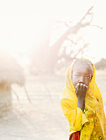 Young girl of the Nuba tribe in the village of Nyaro, Kordofan region, Sudan