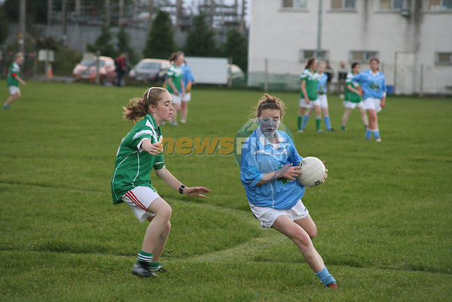 Laura Collins who is the only girl to play for the the Newtown Blues under 13s boys team and other teams refuse to play them for this reason...Photo NEWSFILE/Jenny Matthews.(Photo credit should read Jenny Matthews/NEWSFILE)....This Picture has been sent you under the condtions enclosed by:.Newsfile Ltd..The Studio,.Millmount Abbey,.Drogheda,.Co Meath..Ireland..Tel: +353(0)41-9871240.Fax: +353(0)41-9871260.GSM: +353(0)86-2500958.email: pictures@newsfile.ie.www.newsfile.ie.FTP: 193.120.102.198.