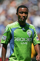 James Riley walks off the field after being issued a red card. The San Jose Earthquakes defeated Seattle Sounders FC 4-0 at Buck Shaw Stadium in Santa Clara, California on August 2, 2009.