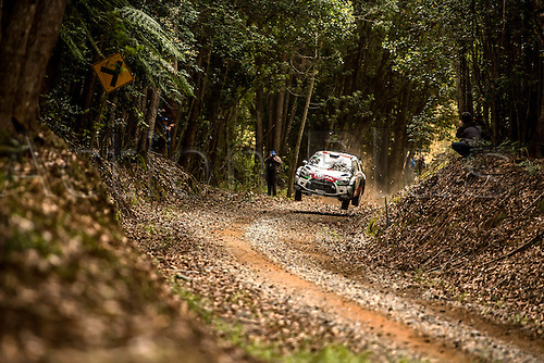 11.09.2015. WRC Rally of Australia.  Kris Meeke  ( IRL )  and Paul Nagle  (GB) in their  Citroen DS3 WRC