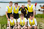 The Muckross RC crew that won  the Minor Mens XI's at the  Killarney Regatta on Sunday front row l-r: Adam Slattery, Chris wynne, Oran O'Donoghue. Back row: Charlie Joy, David Casey, Martin Murphy and Sean Fleming