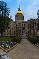 Georgia State Capitol and general Gordon monument, Atlanta
