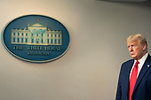 March 31, 2020 - Washington, DC, United States: United States President Donald J. Trump participates in a news briefing by members of the Coronavirus Task Force at the White House. <br /> Credit: Chris Kleponis / Pool via CNP
