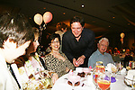 "Guiding Light's Frank Dicopoulos ""Frank Cooper"" chats with his sister Penny and dad Harry at the Young Women's Breast Cancer Foundation event - Reach to Recovery - ""Spring into Shape!"" Luncheon and Fashion Show on April 6, 2008 at Embassy Suites, Coraopolis, Pennsylvania. The event also included a Chinese Auction and an autograph session with the Guiding Light actors. (Photo by Sue Coflin/Max Photos)"