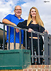 John and Maddie Witte posing for their annual Dad & Daughter portrait at Delaware Park on 10/13/16