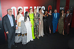 Left to right director/screenwriter Gary Ross, Anne Hathaway, Awkwafina, Sarah Paulson, Cate Blanchett, Sandra Bullock, Mindy Daling, Helena Bonham Carter, James Corden, screenwriter Olivia Milch and Daniel Pemberton arrive at the World Premiere of Ocean's 8 at Alice Tully Hall in New York City, on June 5, 2018.