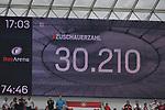 14.04.2018, BayArena, Leverkusen , GER, 1.FBL., Bayer 04 Leverkusen vs. Eintracht Frankfurt<br /> im Bild / picture shows: <br /> 30.210 Zuschauer <br /> <br /> <br /> Foto &copy; nordphoto / Meuter