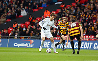 Pictured: Michu (L) and Carl McHugh (R). Sunday 24 February 2013<br />