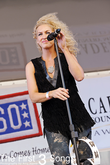 Kimberly Schlapman of Little Big Town performs during the ACM / USO Concert Event on Nellis Air Force Base in Las Vegas, Nevada on April 2, 2011.