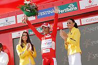 Joaquin Purito Rodriguez with the red jersey of leader after the stage of La Vuelta 2012 between Palas de Rei and Puerto de Ancares.September 1,2012. (ALTERPHOTOS/Acero) /Nortephoto.com<br /> <br /> **CREDITO*OBLIGATORIO** <br /> *No*Venta*A*Terceros*<br /> *No*Sale*So*third*<br /> *** No*Se*Permite*Hacer*Archivo**<br /> *No*Sale*So*third*