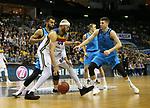 19.03.2019, Mercedes Benz Arena, Berlin, GER, EuroLeague/EuroCup, ALBA ERLIN vs.  MoraBanc Andorra, <br /> im Bild Johannes Thiemann (ALBA Berlin #32), Peyton Siva (ALBA Berlin #3),<br /> Jerome Jordan (Andorra #44)<br /> <br />      <br /> Foto © nordphoto / Engler