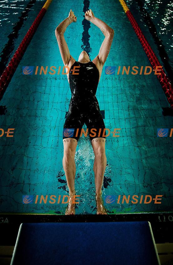 Laura Letrari, Bolzano Nuoto - Esercito..50 dorso donne..Campionati Italiani Assoluti Nuoto Primaverili..Riccione  9 - 13/04/2013..Day04 batterie..Photo Giorgio Scala/Deepbluemedia/Insidefoto