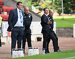 St Johnstone v Ross County...17.08.13 SPFL<br /> A dissappointed Derek Adams gestures<br /> Picture by Graeme Hart.<br /> Copyright Perthshire Picture Agency<br /> Tel: 01738 623350  Mobile: 07990 594431