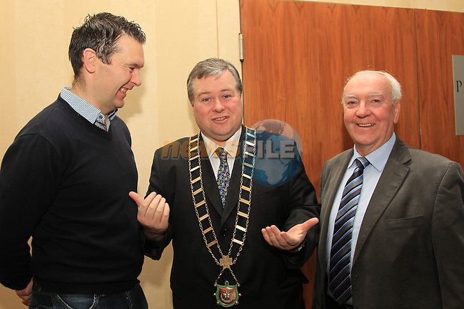 Mayor Paul bell.Thomas oheochaidh.at the 70th Anniversary Celebration Oliver Plunketts GAA.Picture: Fran Caffrey/www.newsfile.ie.
