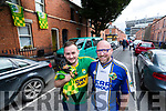 Anthony Kelly with Jess the dog (Killarney) and Shane Lenihan (Listowel), Kerry fans and neighbours who live 100 meters from Croke Park