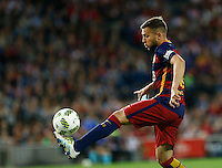 FC Barcelona´s  defense Jordi Alba during the Final of Copa del Rey match between FC Barcelona and SevillaFC at the Vicente Calderon Stadium in Madrid, Sunday, May 22, 2016.