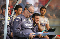 Leeds United manager Marcelo Bielsa takes his seat in the dug out<br /> <br /> Photographer Alex Dodd/CameraSport<br /> <br /> Football Pre-Season Friendly - York City v Leeds United - Wednesday 10th July 2019 - Bootham Crescent - York<br /> <br /> World Copyright © 2019 CameraSport. All rights reserved. 43 Linden Ave. Countesthorpe. Leicester. England. LE8 5PG - Tel: +44 (0) 116 277 4147 - admin@camerasport.com - www.camerasport.com