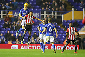 1st November 2017, St. Andrews Stadium, Birmingham, England; EFL Championship football, Birmingham City versus Brentford; Marc Roberts of Birmingham City climbs high to make a good defensive header