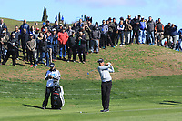 Rafa Cabrera Bello (ESP) on the 4th fairway during Round 1 of the Open de Espana 2018 at Centro Nacional de Golf on Thursday 12th April 2018.<br /> Picture:  Thos Caffrey / www.golffile.ie<br /> <br /> All photo usage must carry mandatory copyright credit (&copy; Golffile | Thos Caffrey)