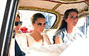 The Wedding of Poppp Delevingne and James Cook<br /> St Paul's Church, Knightsbridge 17.5.2014<br /> <br /> Cara in Karma cab Indian cab