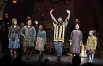 Ensemble Cast during the Broadway Opening Night Performance Curtain Call for 'Annie' at the Palace Theatre in New York City on 11/08/2012