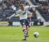 Preston North End's Aidan McGeady gets a shot on goal<br /> <br /> Photographer Mick Walker/CameraSport<br /> <br /> The EFL Sky Bet Championship - Preston North End v Norwich City - Monday 17th April 2017 - Deepdale - Preston<br /> <br /> World Copyright &copy; 2017 CameraSport. All rights reserved. 43 Linden Ave. Countesthorpe. Leicester. England. LE8 5PG - Tel: +44 (0) 116 277 4147 - admin@camerasport.com - www.camerasport.com