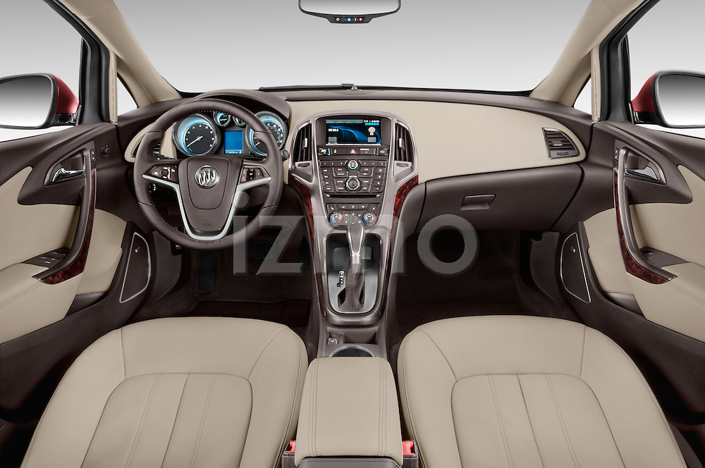 Stock photo of straight dashboard view of 2017 Buick Verano Leather 4 Door Sedan Dashboard