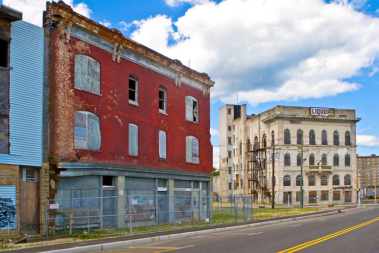 Old dilapidated buildings that will inevitably be replaced by condos in Phase 2 of Asbury Park's revitalization.