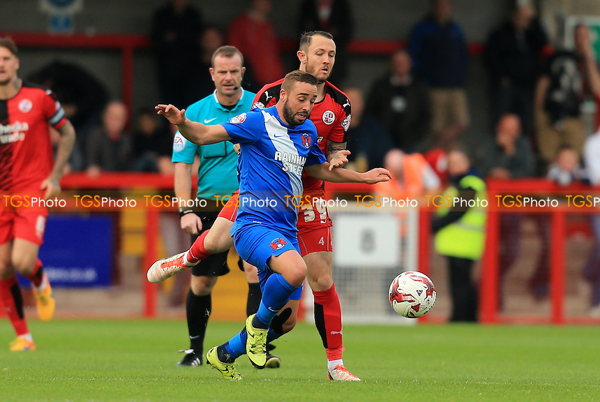 Sammy Moore of Leyton Orient comes under pressure from Rhys Murphy of Crawley Town during Crawley Town vs Leyton Orient, Sky Bet League 2 Football at Broadfield Stadium, Crawley, England on 10/10/2015