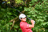 Yani Tseng (TAI)  watches her tee shot on 11 during Friday's round 2 of the 2017 KPMG Women's PGA Championship, at Olympia Fields Country Club, Olympia Fields, Illinois. 6/30/2017.<br /> Picture: Golffile | Ken Murray<br /> <br /> <br /> All photo usage must carry mandatory copyright credit (&copy; Golffile | Ken Murray)