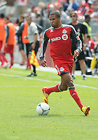 15 September 2012: Toronto FC foward/midfielder Ryan Johnson #9 in action during an MLS game between the Philadelphia Union and Toronto FC at BMO Field in Toronto, Ontario..The game ended in a 1-1 draw..