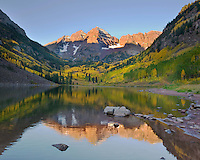 Maroon Bells at Dawn, Colorado