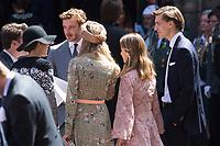 Mariage du Prince Ernst junior de Hanovre et de Ekaterina Malysheva &agrave; l'&eacute;glise Markkirche &agrave; Hanovre.<br /> Allemagne, Hanovre, 8 juillet 2017.<br /> Wedding of Prince Ernst Junior of Hanover and Ekaterina Malysheva at the Markkirche church in Hanover.<br /> Germany, Hanover, 8 july 2017<br /> Pic :  Prince Pierre Casiraghi &amp; wife Beatrice Borromeo &amp; Princess Charlotte Casiraghi, Alexandra of Hanover &amp; boyfriend