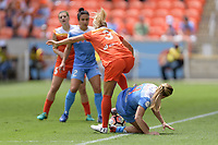 Houston, TX - The Houston Dash defeated the Chicago Red Stars 2-0 on Saturday April 15, 2017: Rachel Daly, Alyssa Mautz during a regular season National Women's Soccer League (NWSL) match at BBVA Compass Stadium.