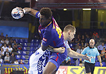 Wael Jallouz ,4th October  2017, Palau Blaugrana, Barcelona, Spain; EHF Mens Champions League Group Phase, handball. FC Barcelona Lassa v CRO HC Prvo Plinarski Drustvo