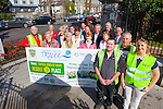 Brendan Hussey and Anthony Moran from Kerry County Councilwith Julie O'Sullivan from Tidy Towns pictured with others from the town who have helped Tralee come third place in the Irish Business Against Litter Awards (IBAL).