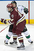 Brian Boyle, Brian Lee - The Boston College Eagles defeated the University of North Dakota Fighting Sioux 6-5 on Thursday, April 6, 2006, in the 2006 Frozen Four afternoon Semi-Final at the Bradley Center in Milwaukee, Wisconsin.