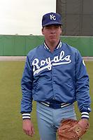 Kansas City Royals Kevin Appier during spring training circa 1989 at Baseball City Stadium in Davenport, Florida.  (MJA/Four Seam Images)