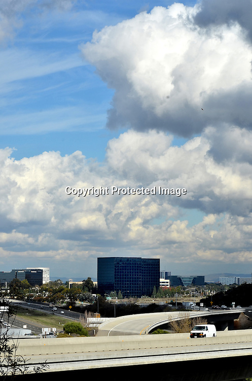 Beautiful Clouds over Irvine California stock photo