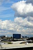 Beautiful Clouds over Irvine California stock photo